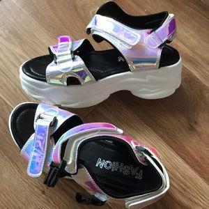 Metallic Sport Sandals